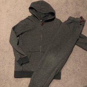 Grey sweatpant & hoodie set